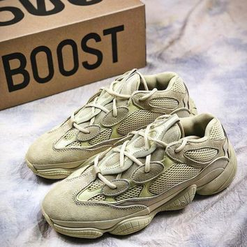PEAPUX5 Adidas Kanye West Yeezy 500 Season 6 Runner Beige B17562 Sport Running Shoes