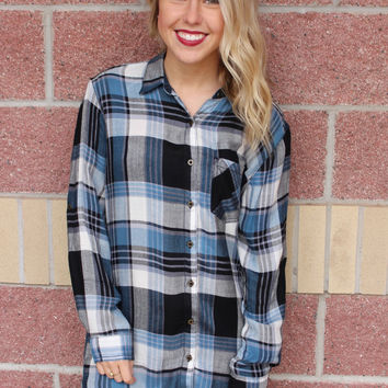 Plaid lightweight tunic-more colors
