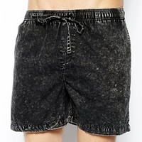 Afends Black Acid Swim Shorts