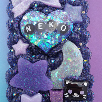 Kawaii Galaxy Kitten Play Neko / cat theme decoden phone case iPhone 7 PLUS