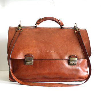 Original Bridas Spanish Leather Cowhide Briefcase REG Num 991294