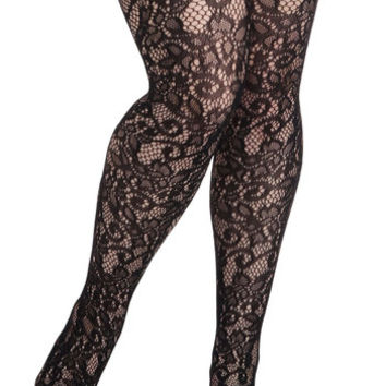 ModCloth Best Seller Intricately Exquisite Tights in Plus