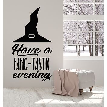 Vinyl Wall Decal Wizard Magic Fantastic Hat Halloween Phrase Quote Stickers Mural (g1087)
