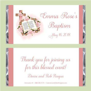 Bible Girl Baptism Candy Bar Wrappers