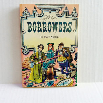 The Borrowers - Vintage Children's Book - 1970