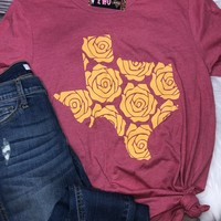 Yellow Rose Texas Graphic Tee (S-XL)