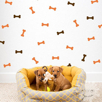 Dog Bone Wall Decal / 66 Bones Sticker / Doggy Decor / Pattern Wall decal / Home Decor / Doggy Space / gift
