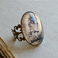 Pirate Ship Ring  The High Seas Antique by TheLysineContingency