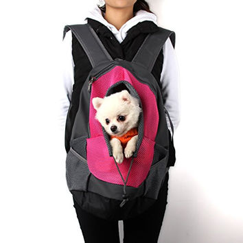 LINIXU Dog Cat Pet Carrier Portable Outdoor Travel Backpack,Hiking, Trip, Shopping