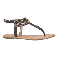Black Jessica Beaded Sandal - Black