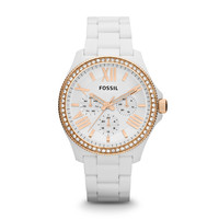 AM4492 - Cecile Multifunction Resin Watch - White with Rose