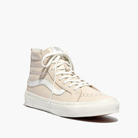 VANS® SK8-HI SLIM ZIP LEATHER HIGH-TOP SNEAKERS