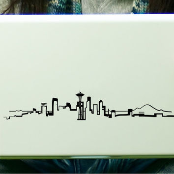 Seattle skyline sticker decal laptop decal ipad