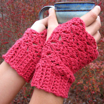 Rustic Charm PDF Fingerless Gloves Crochet Pattern for a Cozy Fall Wardrobe INSTANT DELIVERY