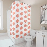 Red Coral Sea Fan Shower Curtain