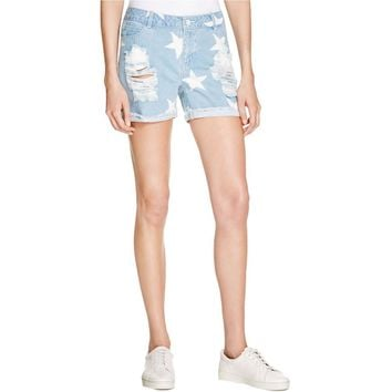 Noisy May Womens Pattern Destroyed Denim Shorts