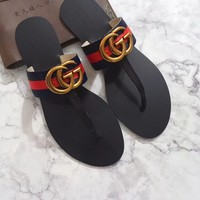 Gucci Fashion Popular Summer Women Flats Men Slipper Fendi Sandals Shoes