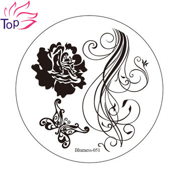 Flower Butterfly Image Nail Art Stamping Plates 6 Design Polish Print Stamp Template Stainless Steel Stencils For Nails JH235