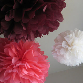 Choose Your Colors - 9 Tissue Paper Pom PomKit - Party DIY Decor Kit - 1st Birthday - Dessert Table - Portland Original - Custom