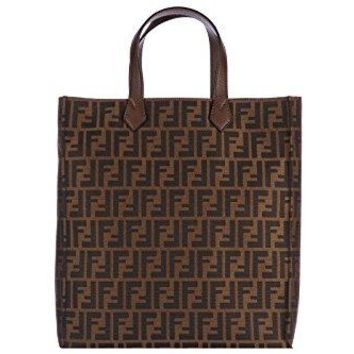 Fendi FF Zucca Print Tote Shopper Handbag 8BH263 Brown