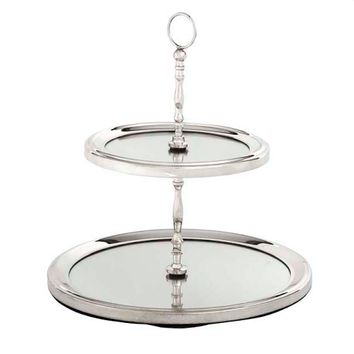 Silver Cake Stand with Mirror | Eichholtz Edward