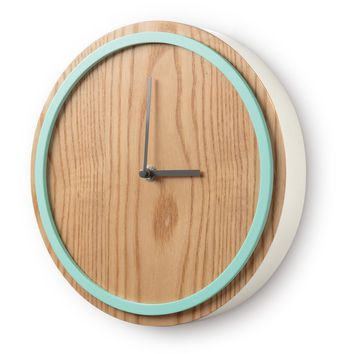 Mint Elo Wall Clock - University Gifts - Oliver Bonas