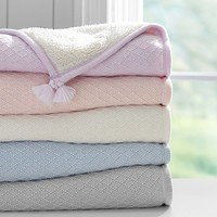 Luxe Cable Knit Sherpa Baby Blanket