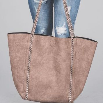 Sammi Braided Chain Tote