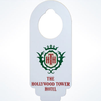 Disney Parks Hollywood Tower Hotel Logo Door Hanger New