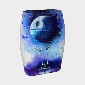 Star Wars - A New Hope Awakens Fitted Skirt