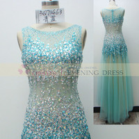 online shop BQ71463 Turq luxury crystal beaded prom dress Wedding Dress 2015, View prom dress 2015, CHOIYES Prom dress Product Details from Chaozhou Choiyes Evening Dress Co., Ltd. on Alibaba.com