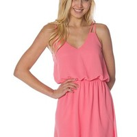 V-Neck Chiffon Dress - Coral at Lucky 21 Lucky 21