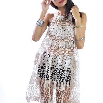 Halter Crochet Dress