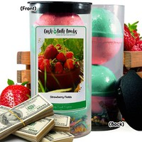 Strawberry Fields Cash Bath Bombs Tube