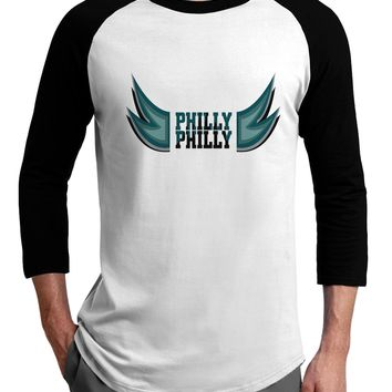 Philly Philly Funny Beer Drinking Adult Raglan Shirt by TooLoud