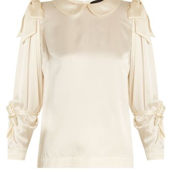 Bow-tied satin blouse | Simone Rocha | MATCHESFASHION.COM UK