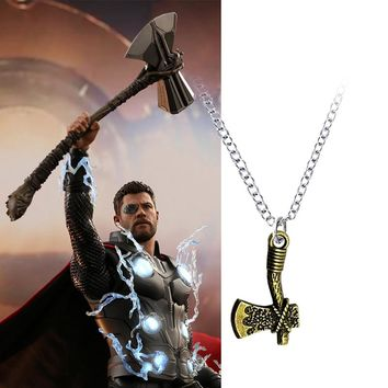 20 PCS Infinity Necklace War Thor Stormbreaker Axe Cosplay Avengers 3 Thor New Handmade Axe Necklace Halloween Party Props