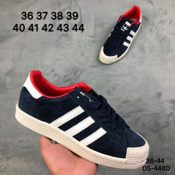 Adidas HALF SHELL 80s Men and Women Blue Fashion Outdoor Skate Shoes