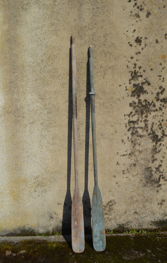 Reclaimed Vintage Boat Oars Nautical Wall From