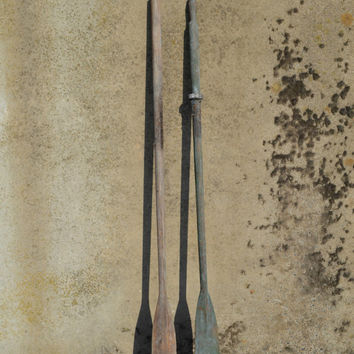 Reclaimed Vintage Boat Oars Nautical