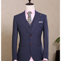 Men's Custom Made Tuxedos Two Buttons Suit