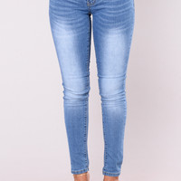 Pure Vanity Skinny Jeans - Medium Wash