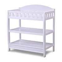 Delta Childrens White Changing Table with Pad - Baby - Baby Furniture - Changing Tables