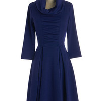 Storytelling Showstopper Dress in Indigo - 3, 4 Sleeves