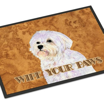 Puppy Cut Maltese Wipe your Paws Indoor or Outdoor Mat 18x27 SS4898MAT