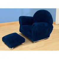 KidKraft Chenille Rocker with Ottoman in Blueberry - 18635 - Baby & Kids' Furniture - Furniture