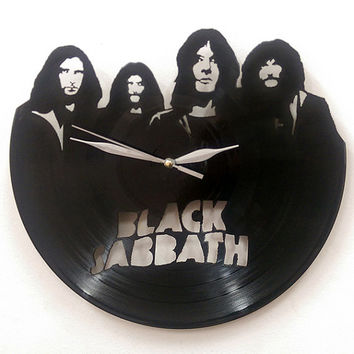 Black Sabbath Wall Art -Vinyl LP Record Clock or Framed Vinyl-Great Rock'n'Roll Gift ,Vinyl Wall Clock,Wall records clock