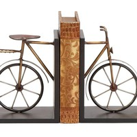 Antique Bicycle Bookends Set