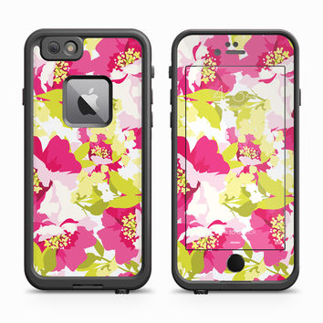 Purple and Highlighter Green Impressionist Flowers Skin for the Apple iPhone LifeProof Fre Case