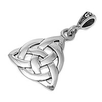 """Sterling Silver Wiccan Triquetra Pendant 20MM (Free 18"""" Chain)"""